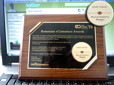 Liviu Taloi - Best eCommerce Blogger, GPEC 2010 - Jurnalistul Anului in eCommerce